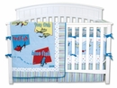 Dr. Seuss One fish two fish Baby Bedding - 4 Pc Crib Set by Trend Lab