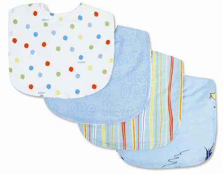 Dr. Seuss One fish two fish Bib Set by Trend Lab