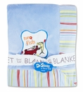 Dr. Seuss One Fish Two Fish Stripe Frame Baby Blanket by Trend Lab