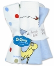 Dr. Seuss One fish two fish Wash Cloth Set by Trend Lab