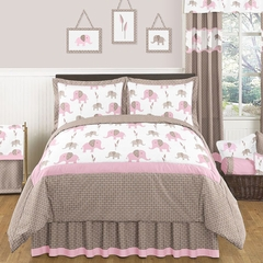 Elephant Pink Mod Bedding - 3 Pc Full/Queen Bedding Set