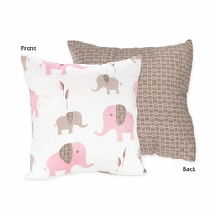 Elephant Pink Mod Decorative Accent Throw Pillow