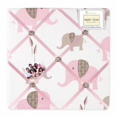 Elephant Pink Mod Fabric Memo Board by Sweet Jojo Designs