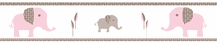 Elephant Pink Wallpaper Border by Sweet Jojo Designs