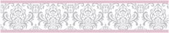 Elizabeth Pink and Gray Damask Wallpaper Border