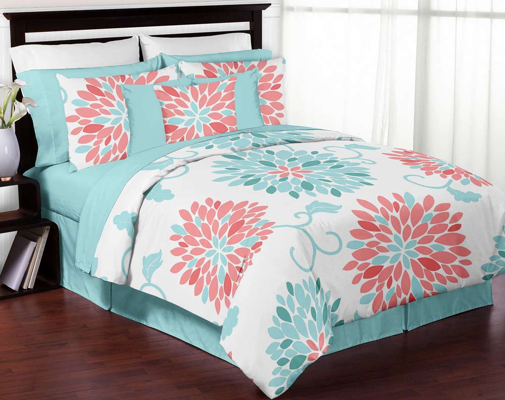 Aqua And Coral Bedding Submited Images