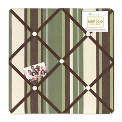 Ethan Collection Stripe Fabric Memo Board
