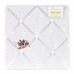 Eyelet White Fabric Memo Board by Sweet Jojo Designs