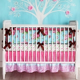Finley Shabby Chic Baby Bedding in Pink and Turquoise - Caden Lane