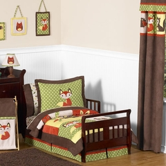 Forest Friends Woodland Animals Bedding - Toddler Bedding 5 Pc Set