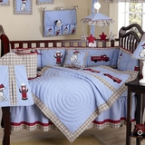 Frankie's Fire Truck Baby Bedding - 9 Piece Crib Set