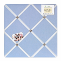 Frankie's Fire Truck Collection Blue Fabric Memo Board