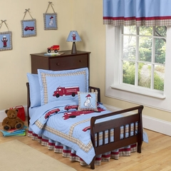 Frankie's Fire Truck Toddler Bedding Set