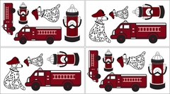 Frankie's Fire Truck Wall Decals by Sweet Jojo Designs