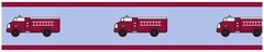 Frankie's Fire Truck Wallpaper Border By Sweet Jojo Designs