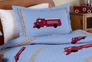 Frankies Fire Truck Pillow Sham by Sweet Jojo Designs