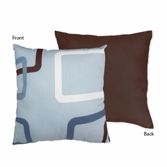 Geo Blue Modern Decorative Accent Throw Pillow