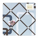 Geo Blue Modern Geometric Collection Fabric Memo Board