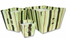 Giggles Stripe 3 Piece Fabric Storage Bins