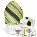 Giggles Stripe Hooded Towel and Washcloth Set