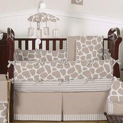 Giraffe Print Baby Crib Bedding 9 Pc Set