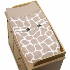 Giraffe Print Changing Pad Cover by Sweet Jojo Designs