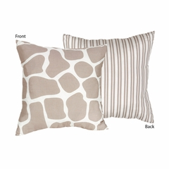 Giraffe Print Decorative Accent Throw Pillow