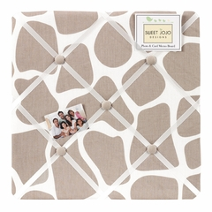 Giraffe Print Fabric Memo Board by Sweet Jojo Designs