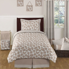 Giraffe Print Twin Bedding 4 Pc Set