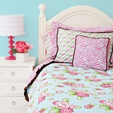 Girls Boutique Pink Shabby Chic Twin Bedding Duvet Cover
