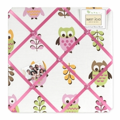 Girls Pink Owl Fabric Memo Board by Sweet Jojo Designs