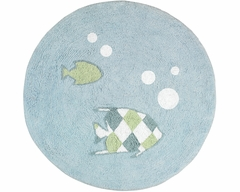 Go Fish Ocean Accent Floor Rug by Sweet Jojo Designs