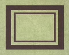 Green and Brown Modern Hotel Accent Floor Rug by Sweet Jojo Designs