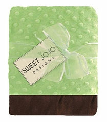 Green & Chocolate Brown Baby Blanket