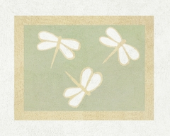 Green Dragonfly Dreams Accent Floor Rug by Sweet Jojo Designs