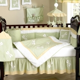 Green Dragonfly Dreams Baby Bedding - 9 Piece Crib Set