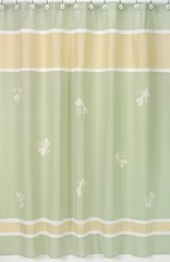 Green Dragonfly Dreams Bathroom Shower Curtain