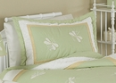 Green Dragonfly Dreams Pillow Sham by Sweet Jojo Designs