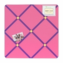 Groovy Love Collection Pink and Purple Fabric Memo Board