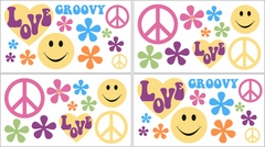 Groovy Love Peace Sign Wall Decals by Sweet Jojo Designs