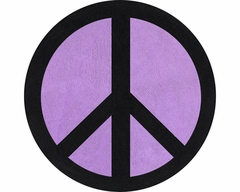 Groovy Peace Sign Purple Accent Floor Rug by Sweet Jojo Designs