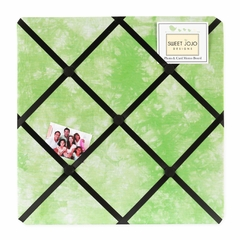 Groovy Tie Dye Peace Sign Lime Green Collection Fabric Memo Board