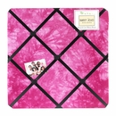 Groovy Tie Dye Peace Sign Pink Collection Fabric Memo Board