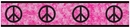 Groovy Tie Dye Peace Sign Pink Wallpaper Border By Sweet Jojo Designs
