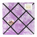 Groovy Tie Dye Peace Sign Purple Collection Fabric Memo Board