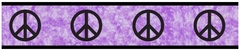Groovy Tie Dye Peace Sign Purple Wallpaper Border - Sweet Jojo Designs