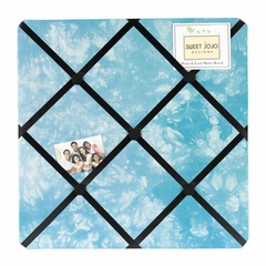 Groovy Tie Dye Peace Sign Turquoise Blue Collection Fabric Memo Board