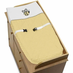 Honey Bee Changing Pad Cover By Sweet Jojo Designs