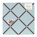 Hotel Blue and Brown Collection Fabric Memo Board