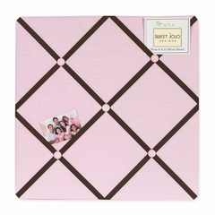 Hotel Pink and Brown Collection Fabric Memo Board